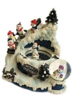 Tune Up Shops >> Christmas skating scene wind up ornament - snowman design